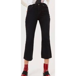 Topshop Dree Cropped kick flare Jeans A0174